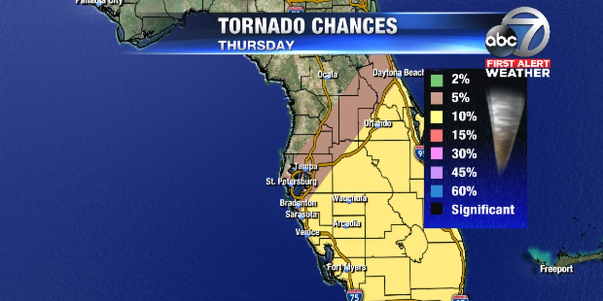 First Alert Weather: Severe storms with possibility of tornadoes on Thursday