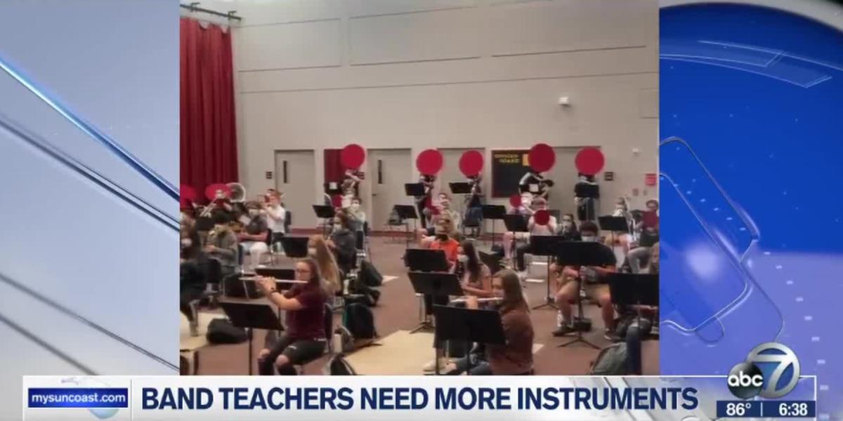 Sarasota County School District music teachers need your instruments