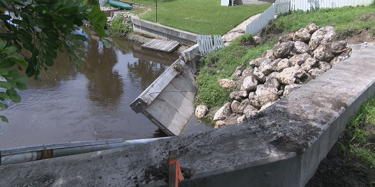 Residents concerned following wing-wall collapse at bridge on Morgan Johnson Road in Bradenton