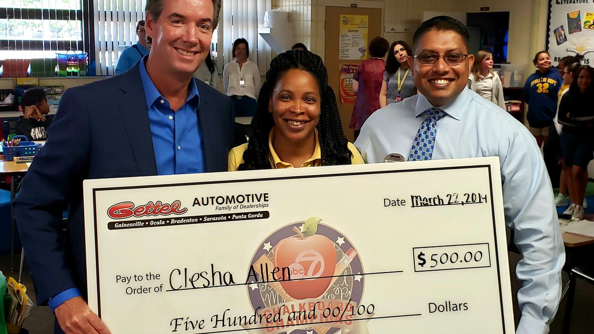 Chalkboard Champion: Clesha Allen of Booker Elementary School