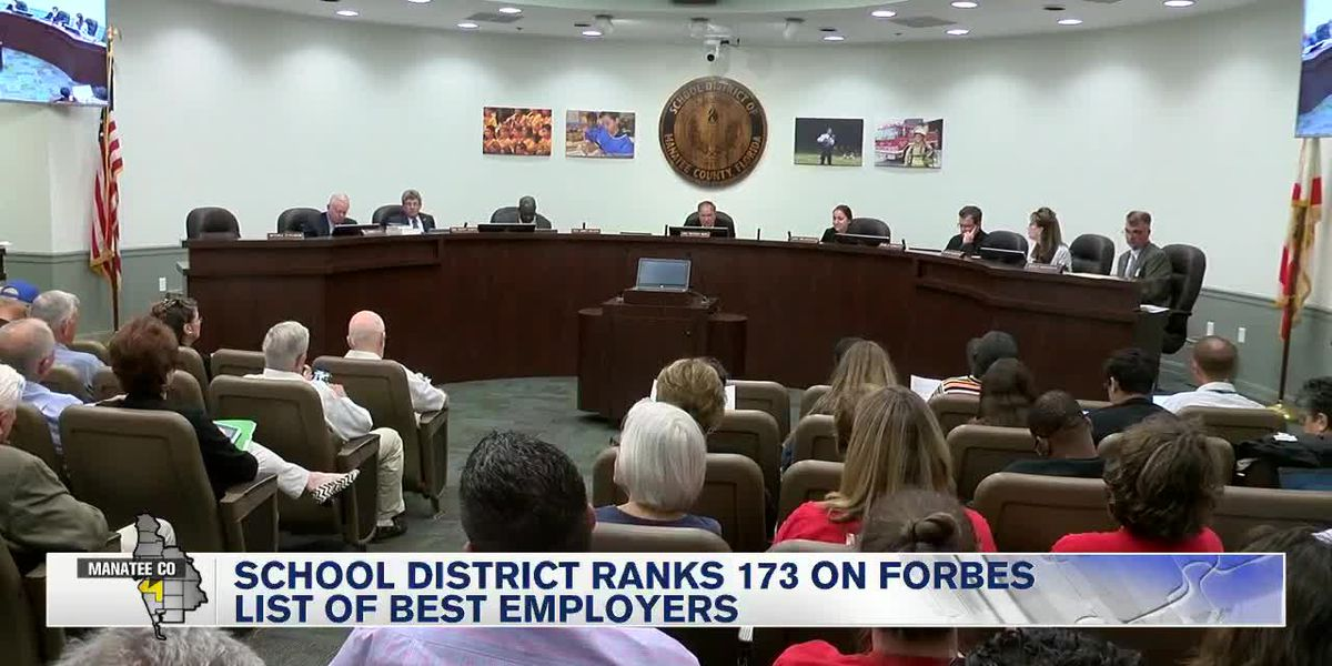 Manatee School District Ranks 173 on Forbes List of Best Employers