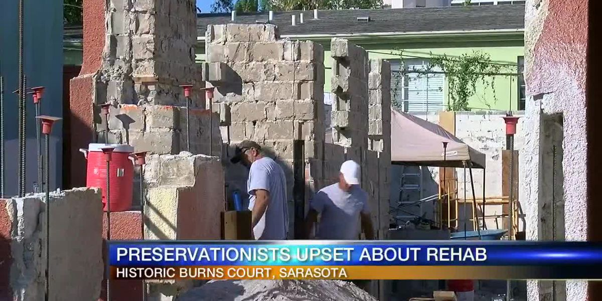 Preservationists upset about Burns Court rehab