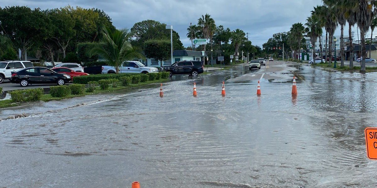 A section of Lime Ave is closed due to a water main break