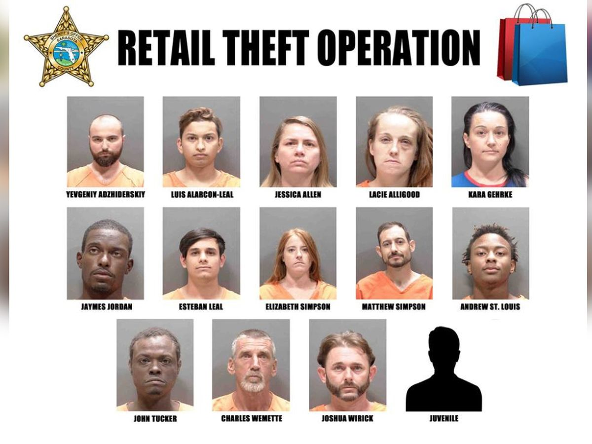 14 busted during operation focusing on retail spots in Sarasota and Venice