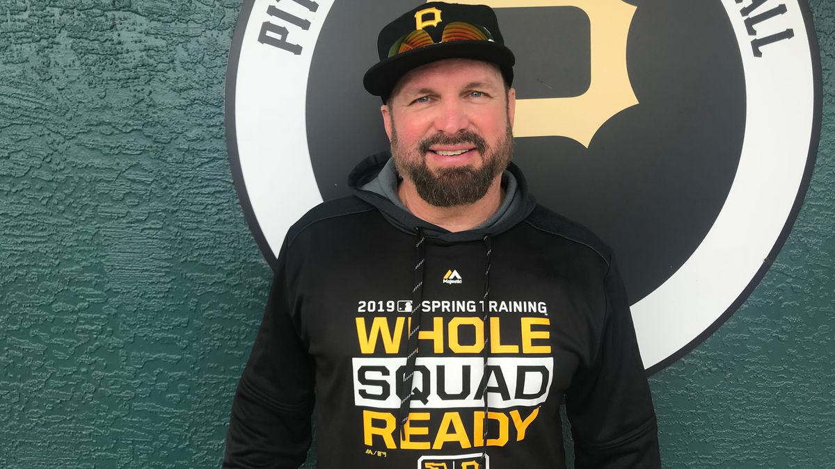 Country music legend Garth Brooks at Spring Training with the Pirates in Bradenton