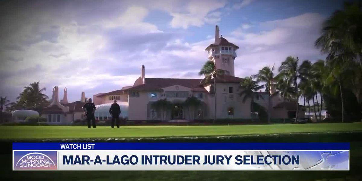 Accused Mar-a-Lago trespasser proclaims innocence; thanks US