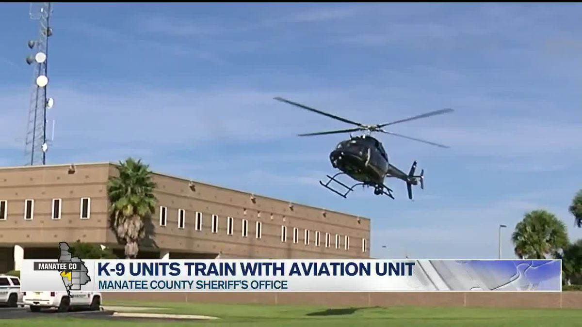 K9 units learning to deploy from helicopter in Manatee County