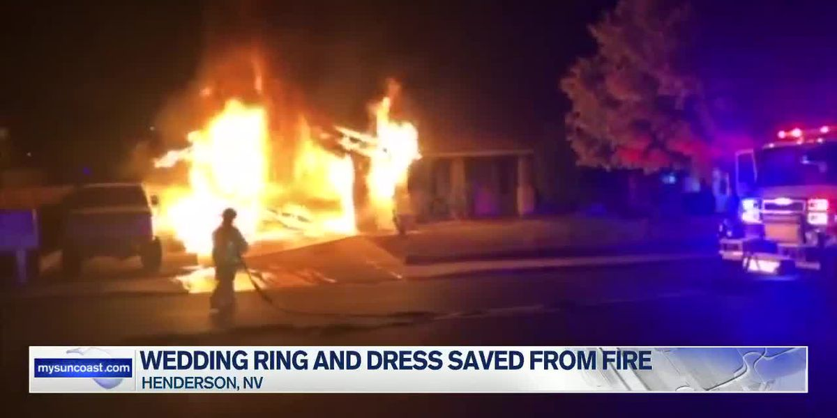 Wedding Ring and Dress Saved from Fire