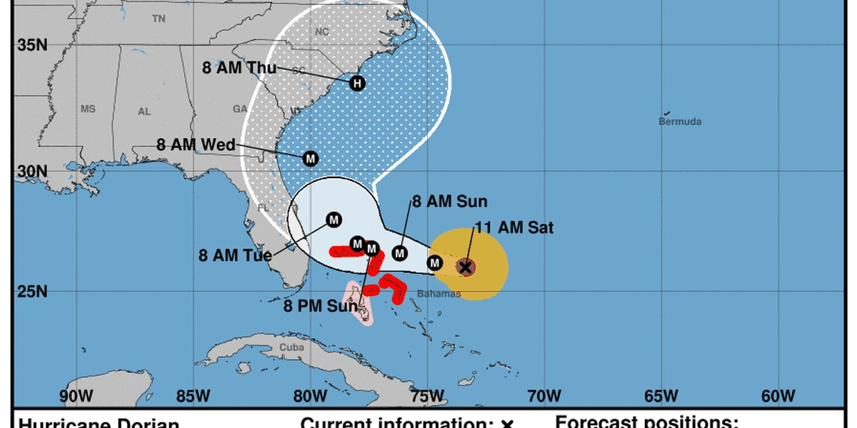 New track shifts Hurricane Dorian east, taking Suncoast out of cone of uncertainty