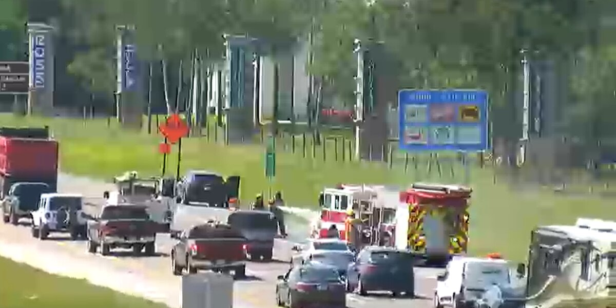 First Alert Traffic: Car on fire at I-75 and University Parkway