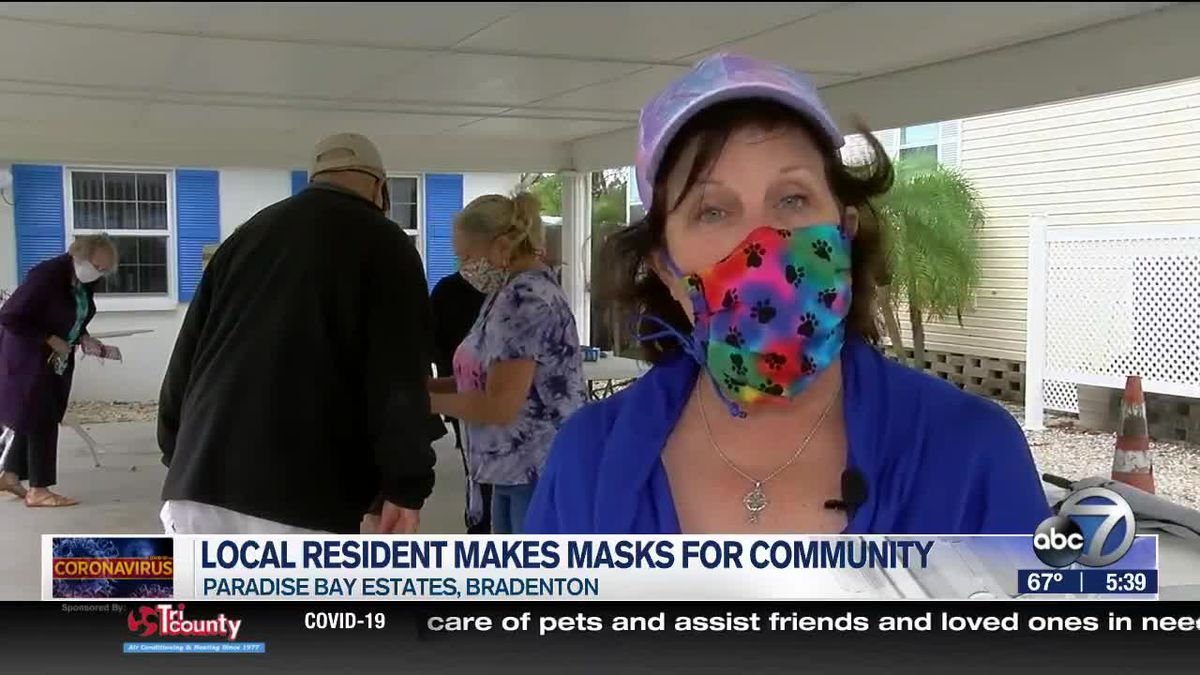 Halloween 2020 Paradise Bay Local Resident Makes Masks for Community