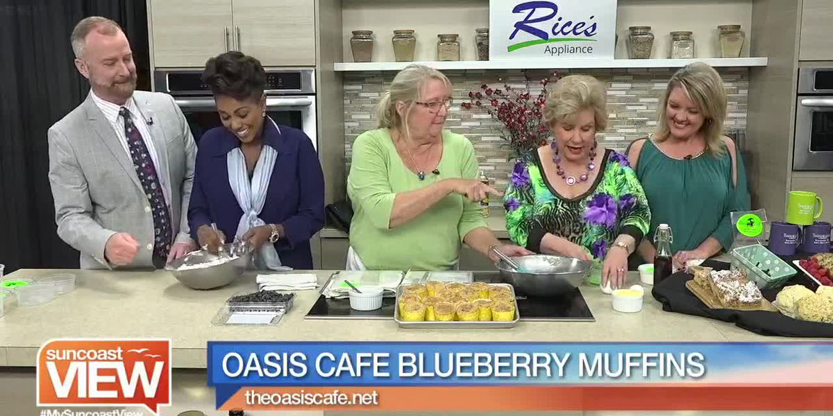 Blueberry Muffins from Oasis Cafe | Suncoast View