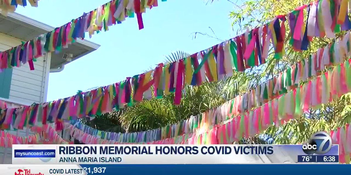 Colorful ribbon memorial honors lives lost from COVID-19
