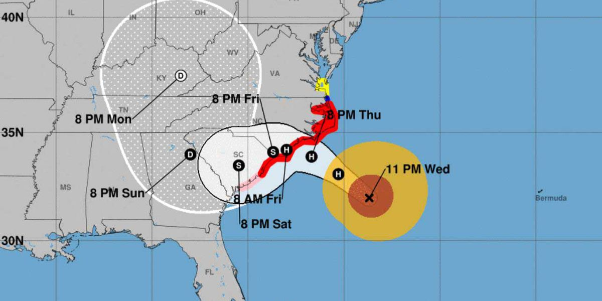 Hurricane Florence weakens to Category 2, still threatens millions of homes