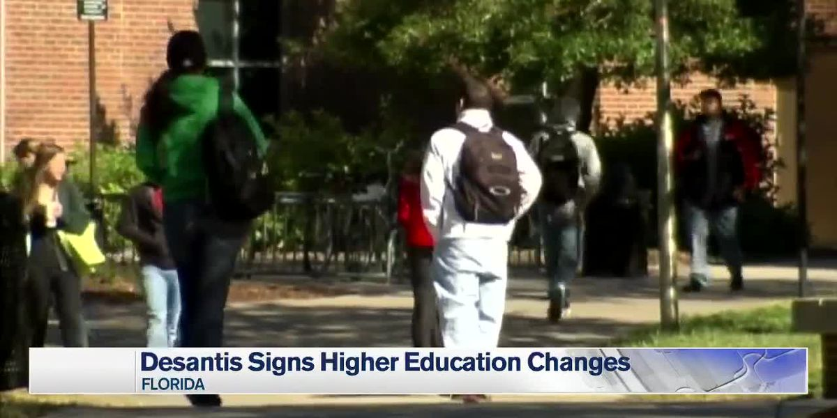 Higher education changes bill signed into law by DeSantis
