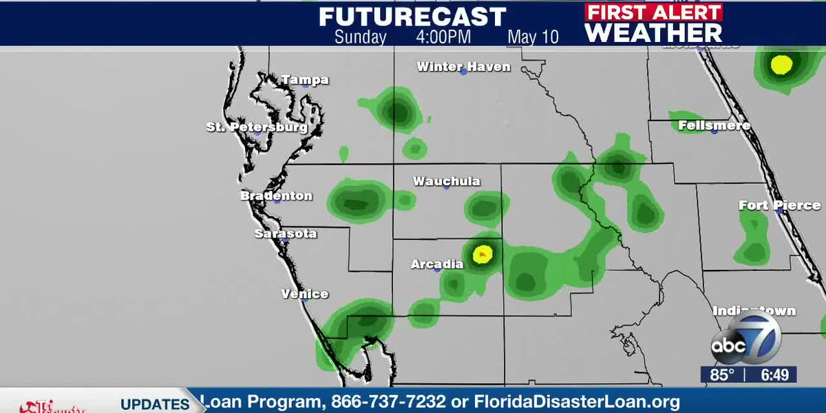 First Alert Weather: Saturday, May 9, 2020 - Scattered showers and isolated storms on Mother's Day with a dry start to the workweek