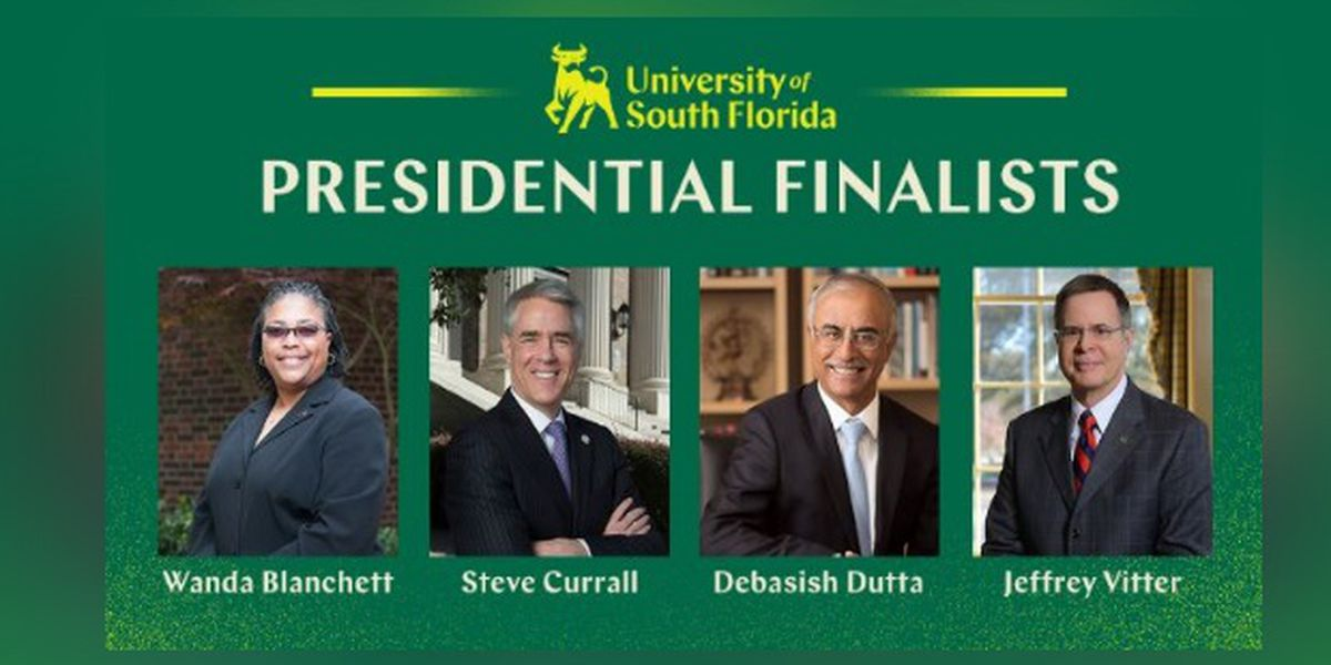 FINAL FOUR: USF will soon select one of four candidates to become president