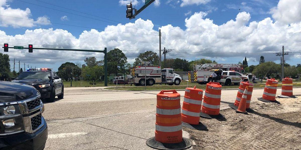 Car crash caused gas leak, closing U.S. 41 in North Port