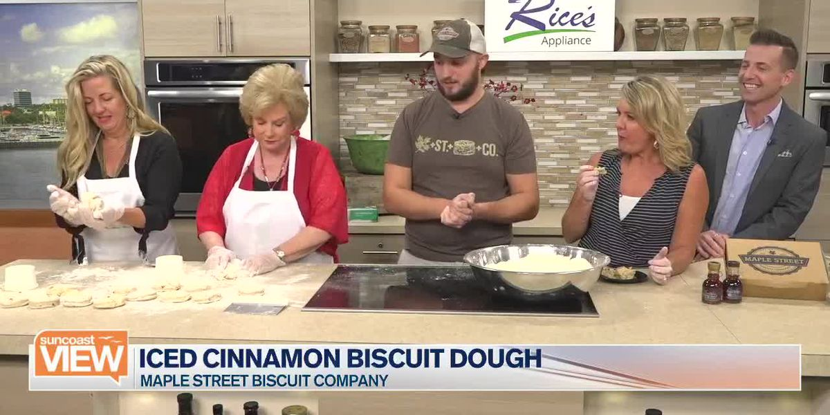 Maple Street Biscuit Company Helps Us Make Iced Cinnamon Biscuit Dough | Suncoast View