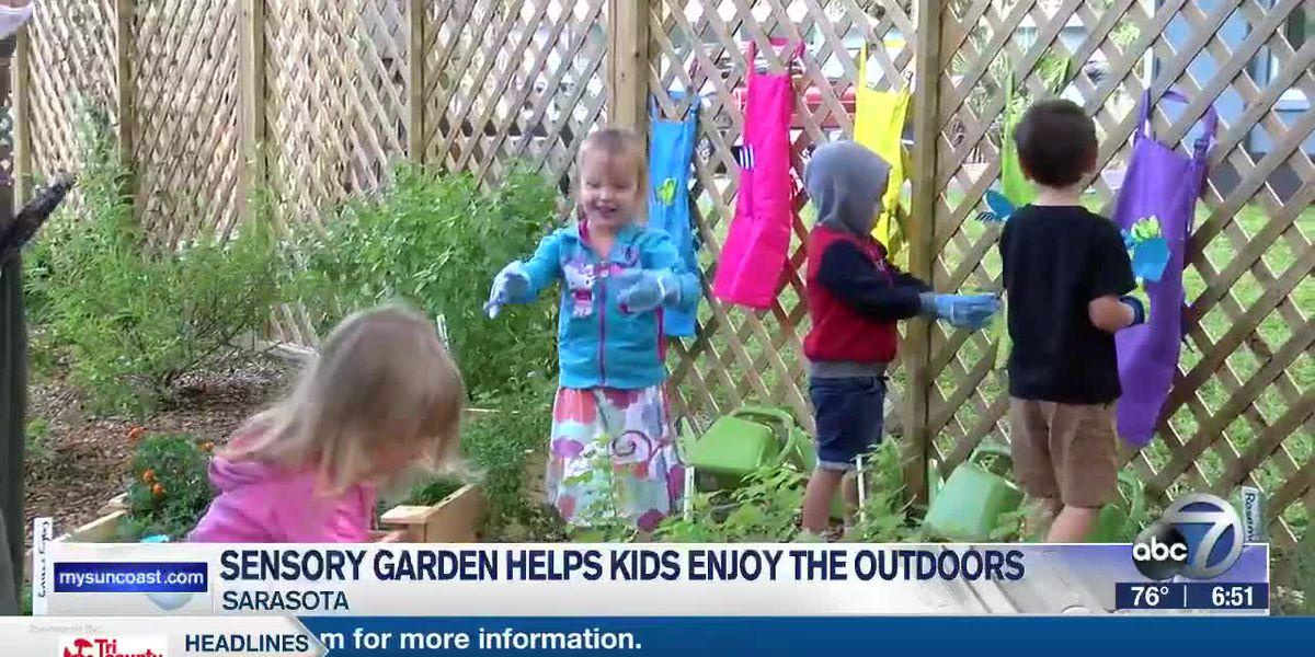 Sensory garden helps local kids enjoy the outdoors and ignite their senses