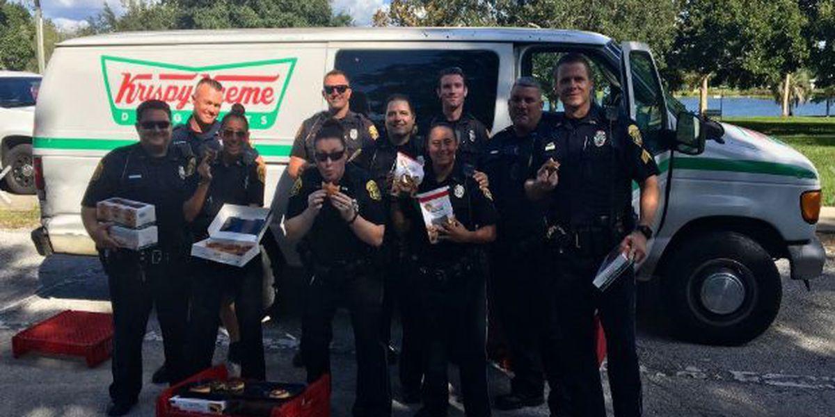 Police find stolen doughnut van, share treats with homeless