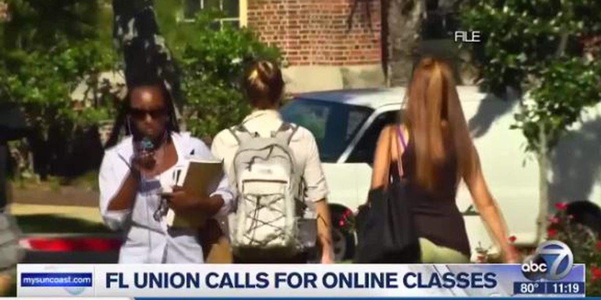 Florida Union calls for online classes at colleges and universities
