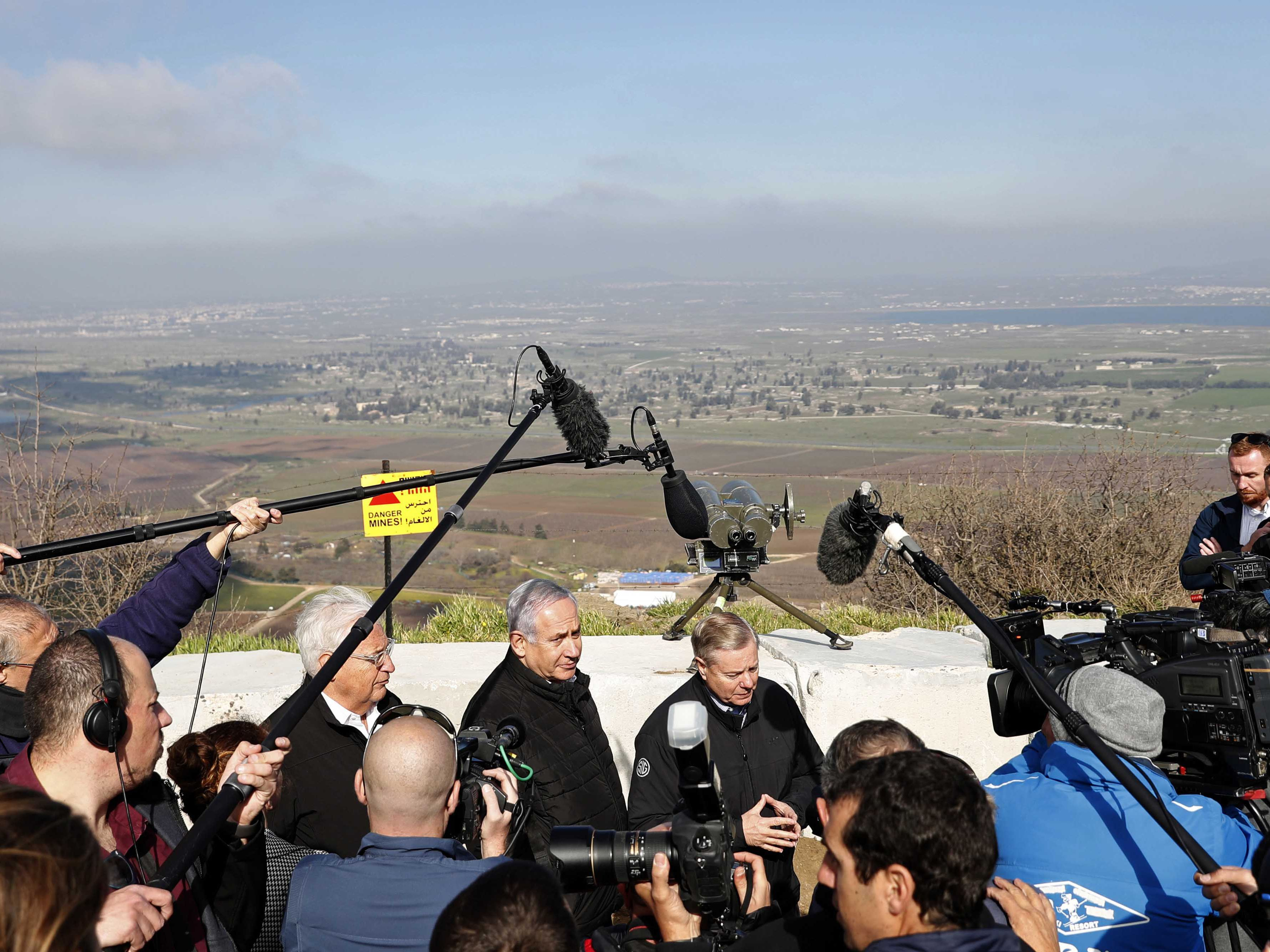 Trump says US recognizes Israel's sovereignty of Golan Heights