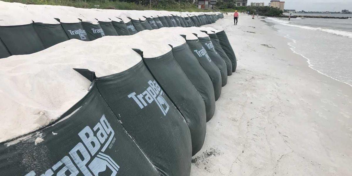Beach erosion concerns on the Suncoast as Hurricane Michael goes up the Gulf Coast