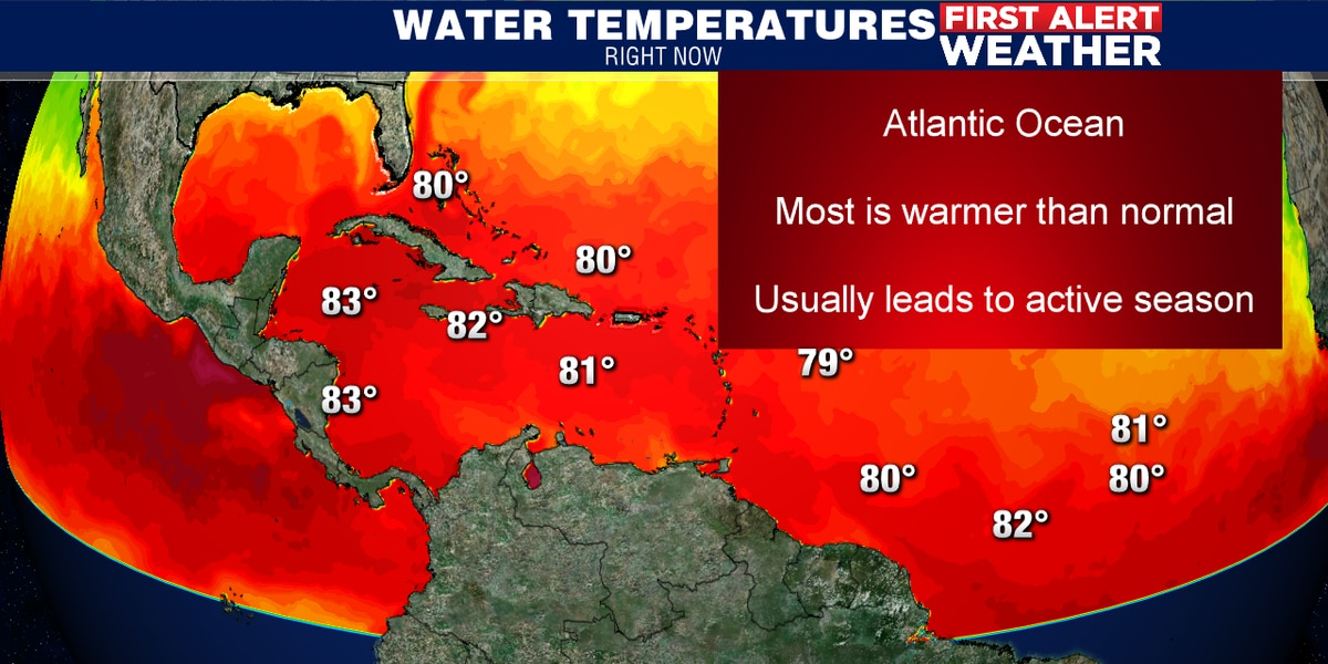 Atlantic ocean warmer than normal