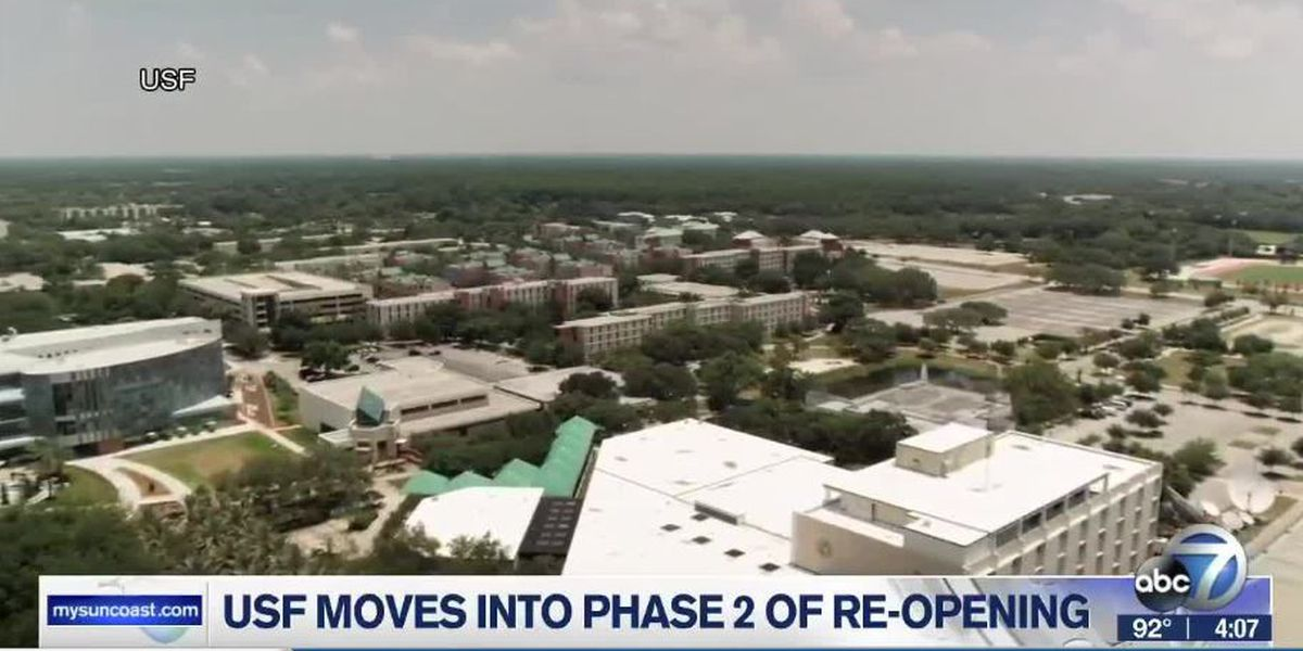 USF to begin Phase 2 of their re-opening plan