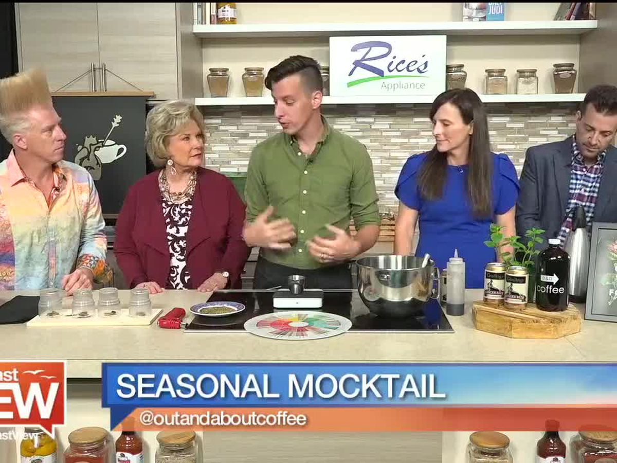 Seasonal Mocktail from Out and About Coffee | Suncoast View