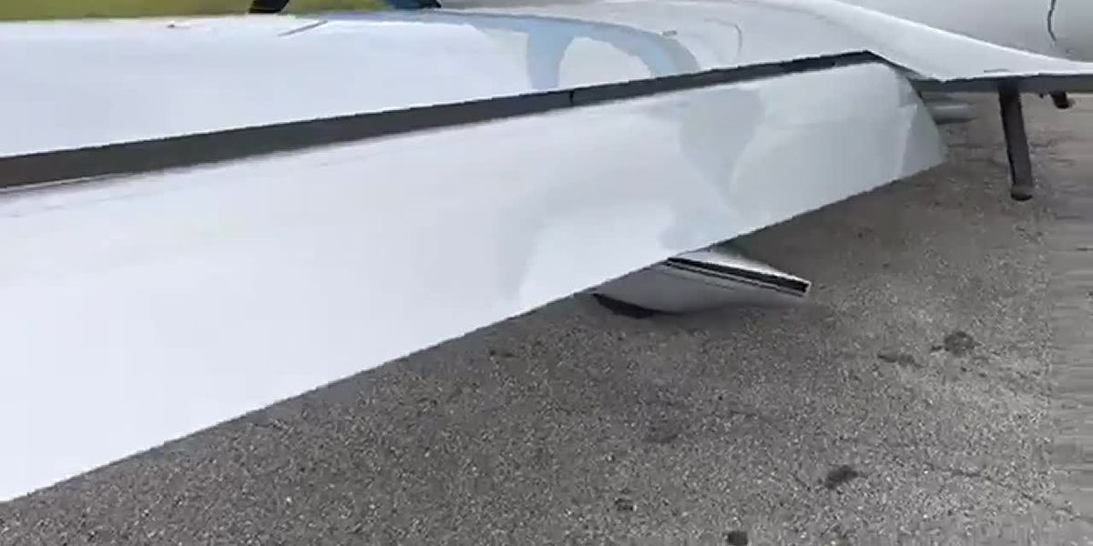 VIDEO: Damage to plane after driver hits gate at SRQ Airport