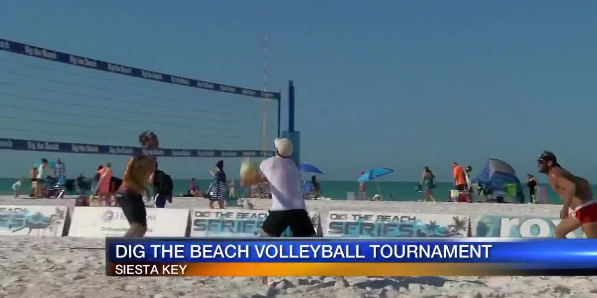 Dig the beach volleyball at Siesta Key