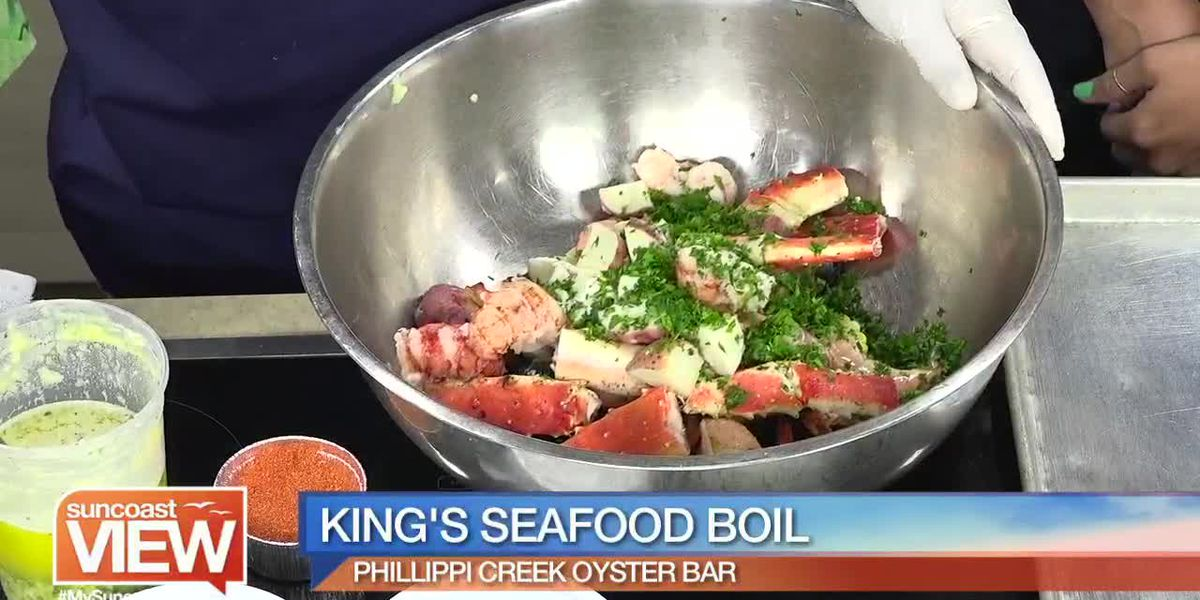 Watch How Phillippi Creek Oyster Bar Makes Their King's Seafood Boil | Suncoast View