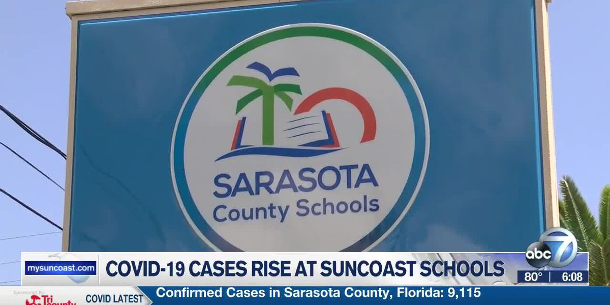 COVID-19 cases rise in both Suncoast school districts