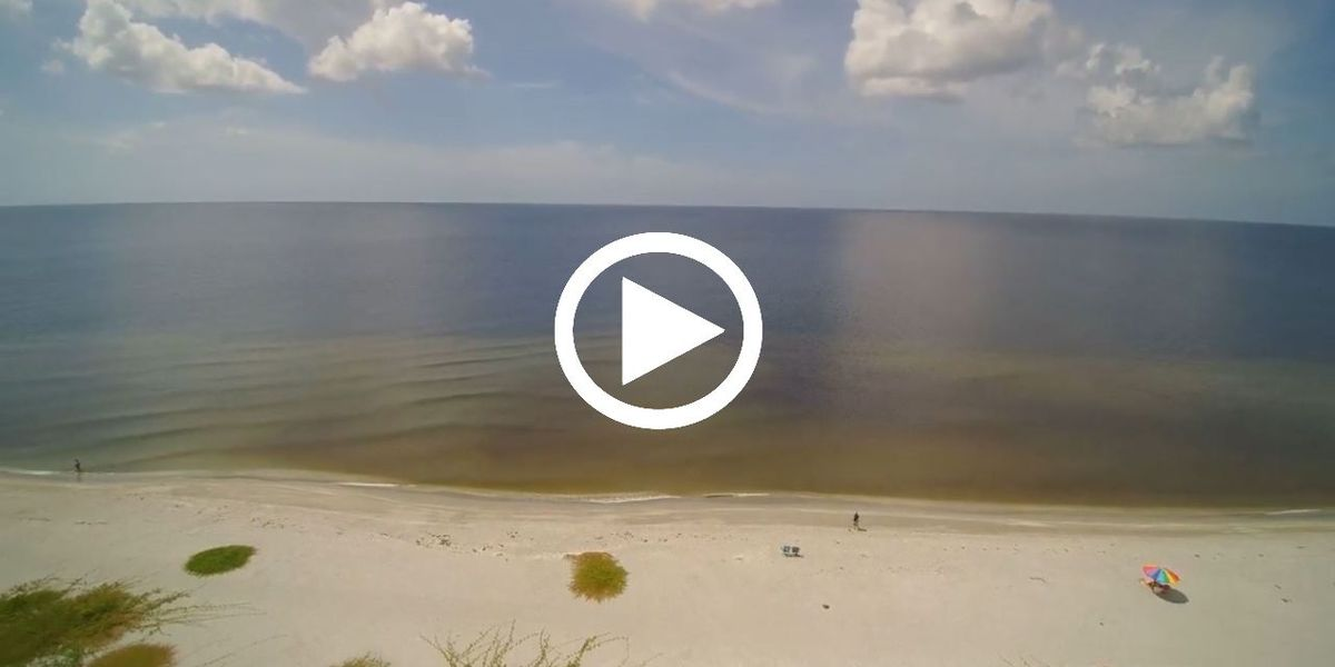 DRONE VIDEO: Beach conditions along Siesta Key on Oct. 2