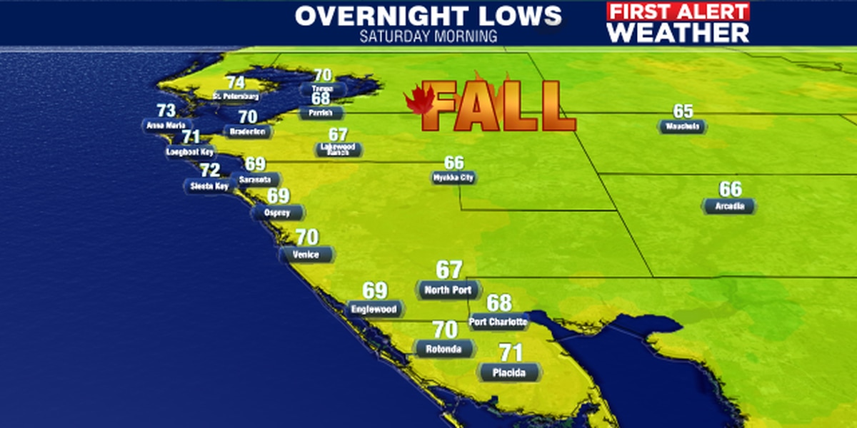 Beautiful weekend ahead with plenty of sunshine and some 60′s in the A.M.