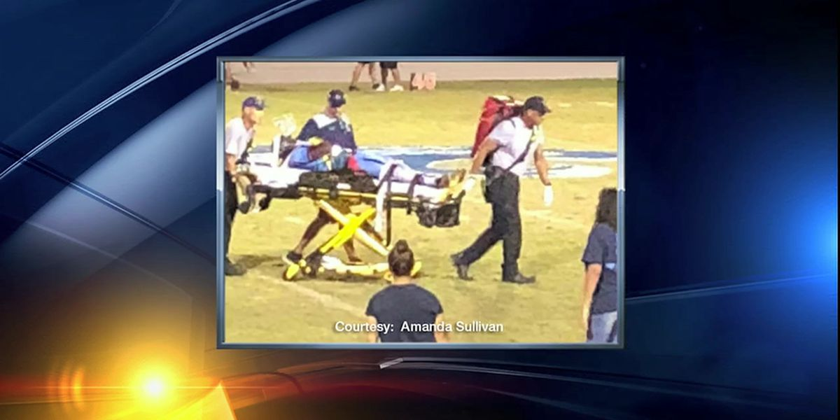 Video: North Port high school football player suffers spinal injury in homecoming game