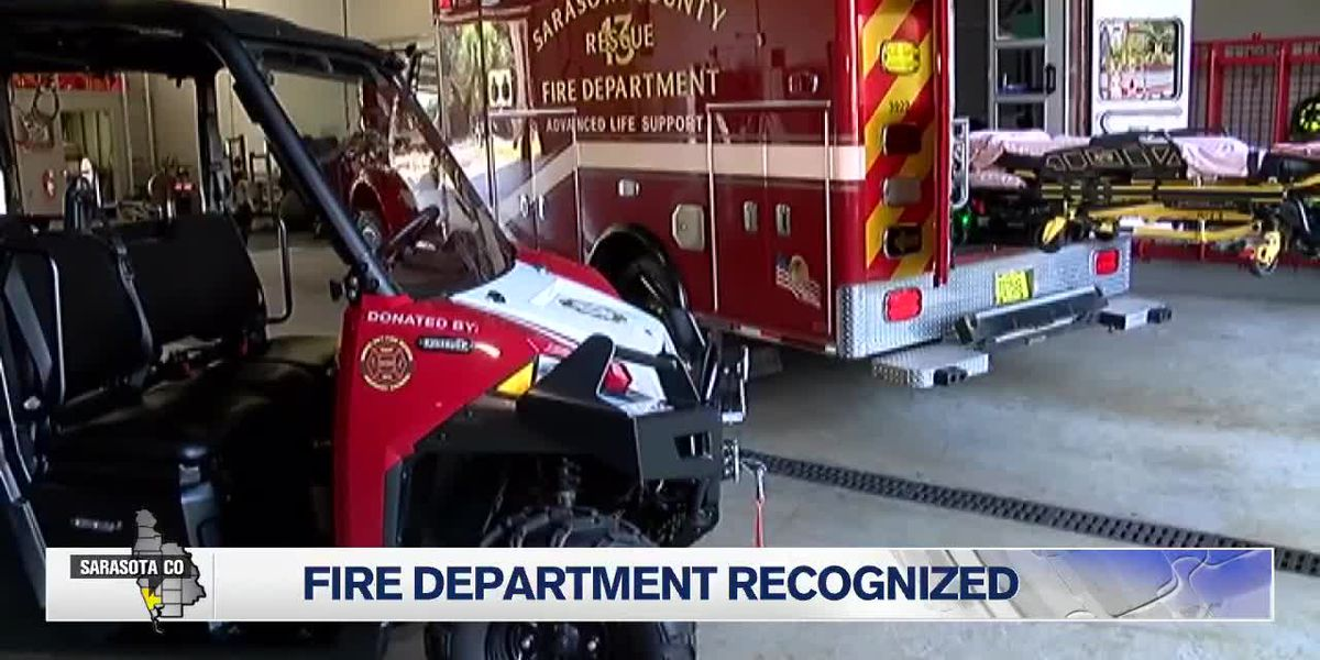 Sarasota County Fire Department recognized