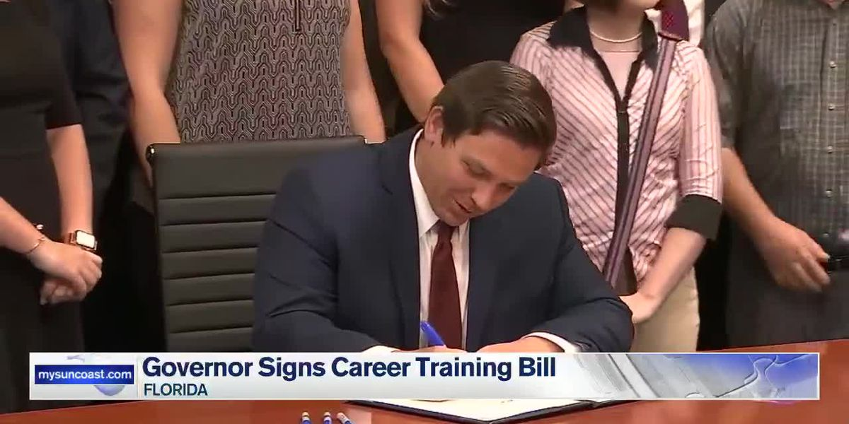 Governor signs career training bill