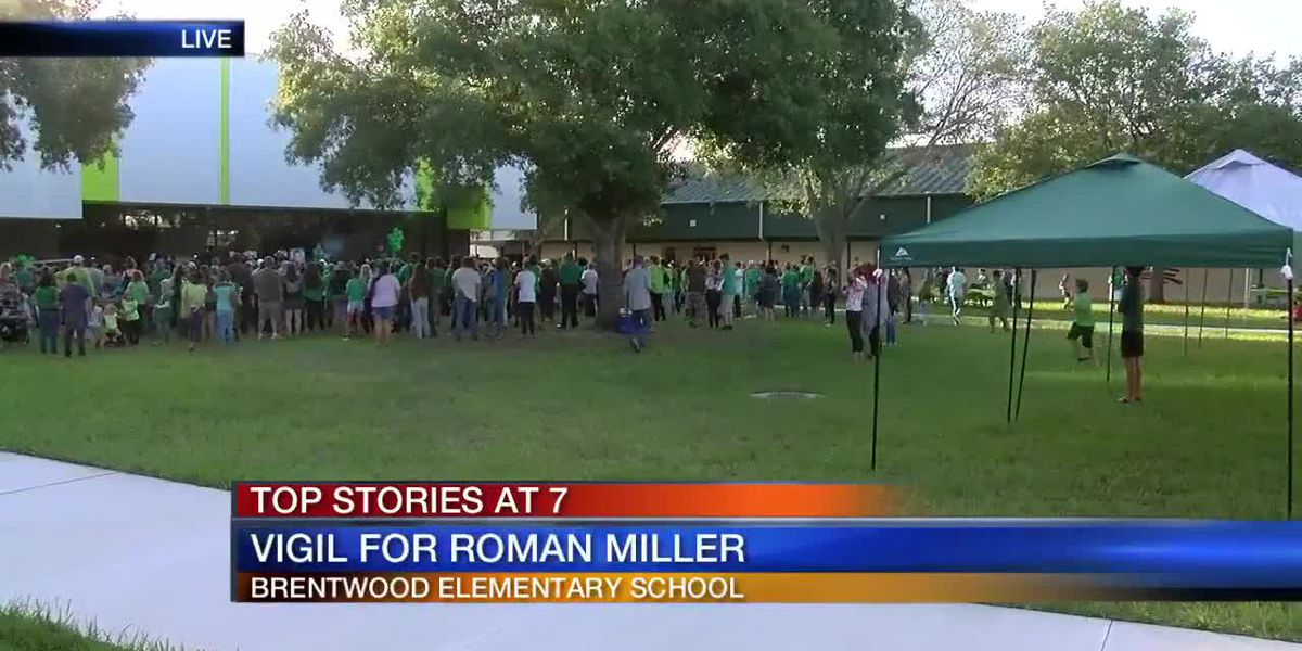 Vigil held for Roman Miller on Thursday at Brentwood Elementary in Sarasota