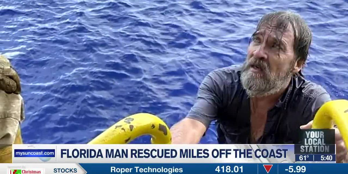 Florida Man Rescued Miles Off the Coast