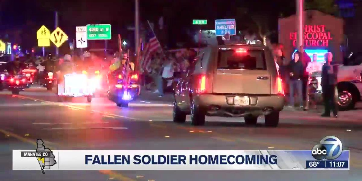 Body of 20-year-old soldier returns home to Bradenton