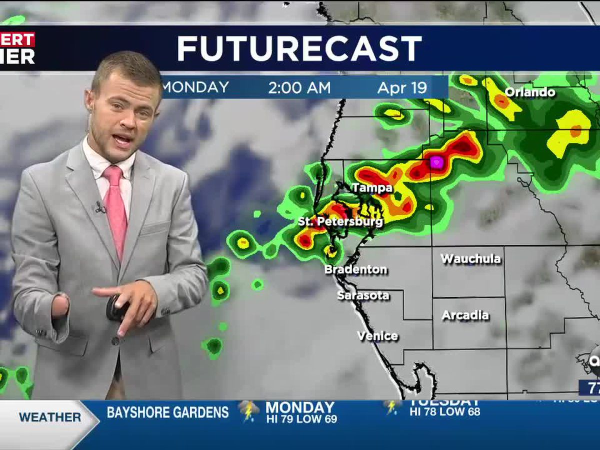 Various rounds of storms over the next 3 days