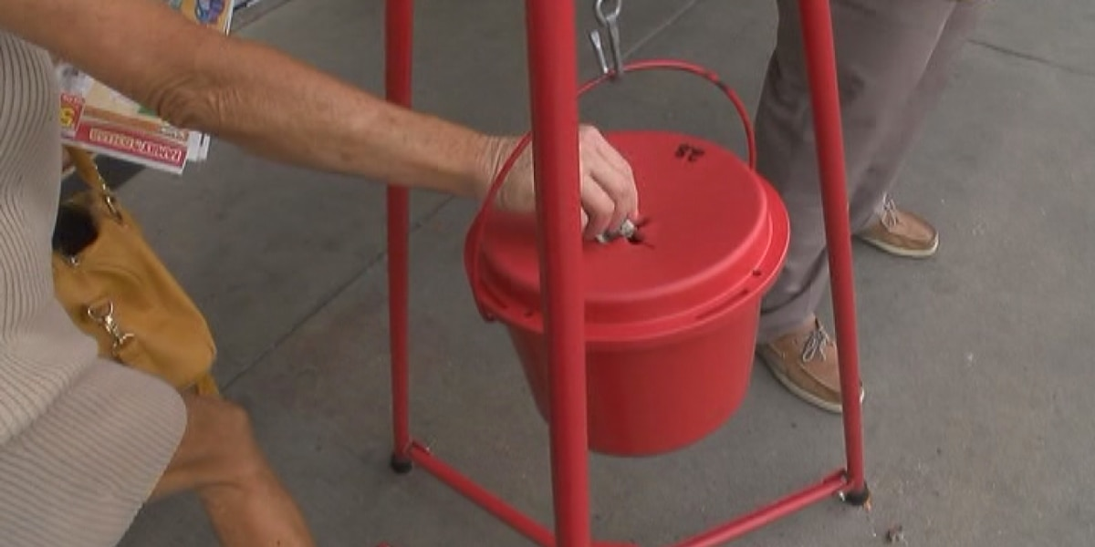 Salvation Army Red Kettle 20 for 20 campaign in Sarasota County