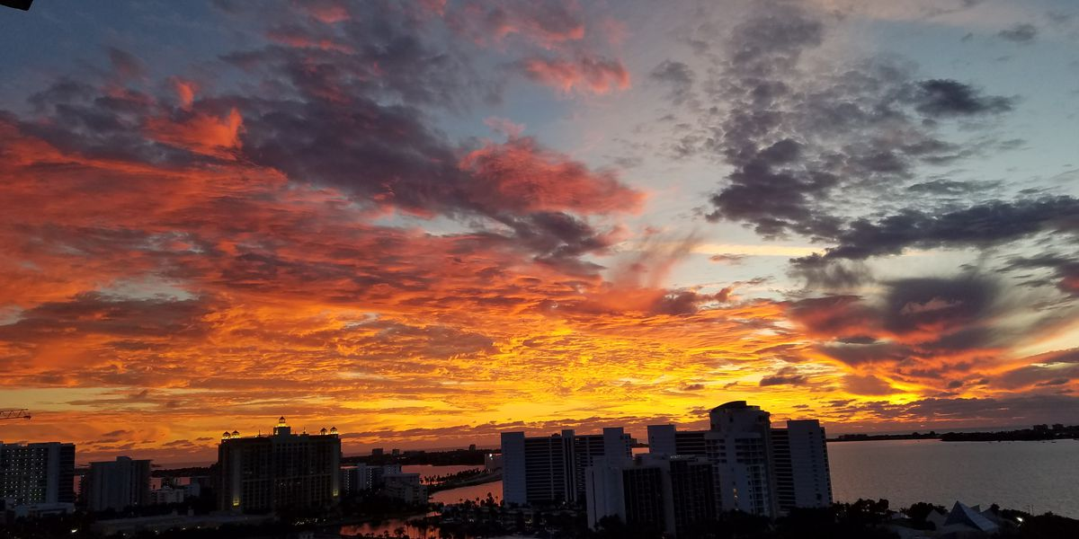 PHOTO GALLERY: Incredible sunset on December 17, 2018