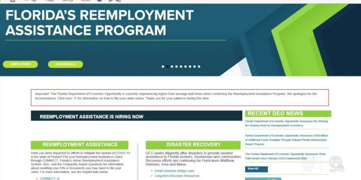 Florida to beef up overwhelmed unemployment system