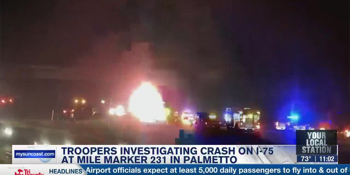 Troopers Investigating Crash on I-75 at Mile Marker 231 in Palmetto