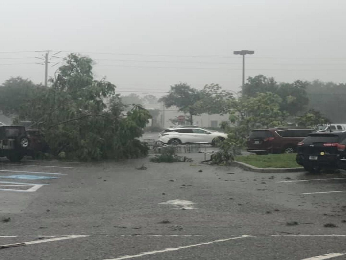 Tornado damage in Venice after strong storms Monday evening