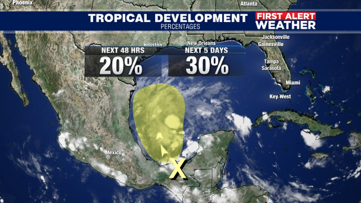 Tropical trouble again in the Gulf this weekend?